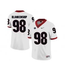 Georgia Bulldogs 98 Rodrigo Blankenship White College Football Jersey