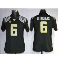 Oregon Ducks 6 D.Thomas Black Limited Women Jerseys