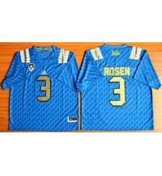 UCLA Bruins #3 Josh Rosen Blue PAC-12 Patch Stitched NCAA Jersey
