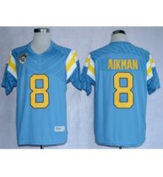 UCLA Bruins 8 Aikman L.Blue College Jerseys