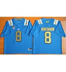 UCLA Bruins 8 Troy Aikman Blue College Jersey