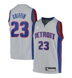 Youth Detroit Pistons #23 Blake Griffin Jordan Brand Gray 2020-21 Swingman Jersey