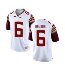 Florida State Seminoles 6 Everett Golson White College Football Jersey