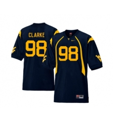 West Virginia Mountaineers 98 Will Clarke Navy College Football Jersey