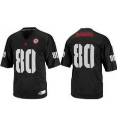 Nebraska Cornhuskers 80 Kenny Bell Black College Football NCAA Jerseys
