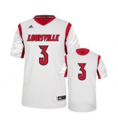 Louisville Cardinals 3 Peyton Siva White College Jersey
