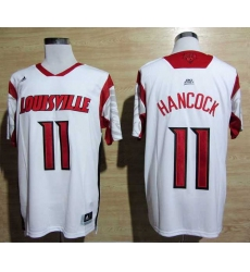 adidas Louisville Cardinals 2013 March Madness Luke Hancock 11 Authentic Jersey - White
