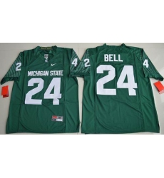 Michigan State Spartans #24 Le''Veon Bell Green Limited Stitched NCAA Jersey