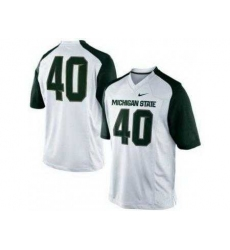 Michigan State Spartans 40 Max Bullough White College Football NCAA Jerseys