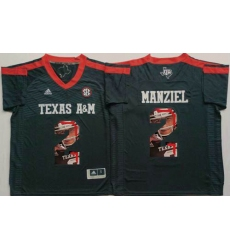 Texas A&M Aggies #2 Johnny Manziel Black Player Fashion Stitched NCAA Jersey