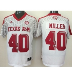 Texas A&M Aggies 40 Von Miller White College Jersey