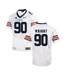 Auburn Tigers 90 Gabe Wright White College Football Jersey