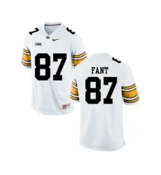 Iowa Hawkeyes 87 Noah Fant White College Football Jersey