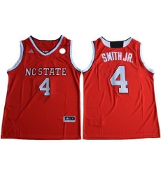 NC State Wolfpack #4 Dennis Smith Jr. Red Basketball Stitched NCAA Jersey