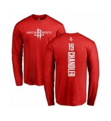 Basketball Houston Rockets #19 Tyson Chandler Red Backer Long Sleeve T-Shirt