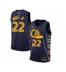 Men's Cleveland Cavaliers #22 Larry Nance Jr. Swingman Navy Basketball Jersey - 2019 20 City Edition
