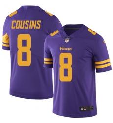 Youth Nike Minnesota Vikings #8 Kirk Cousins Limited Purple Rush Vapor Untouchable NFL Jersey