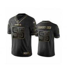 Men's Dallas Cowboys #55 Leighton Vander Esch Black Golden Edition Limited Player Football Jersey