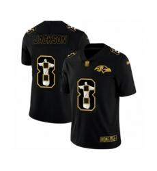 Men's Baltimore Ravens #8 Lamar Jackson Black Jesus Faith Limited Player Football Jersey