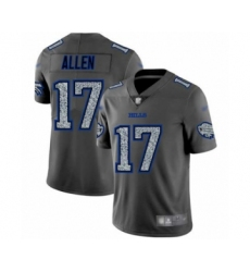 Men's Buffalo Bills #17 Josh Allen Limited Gray Static Fashion Football Jersey