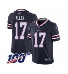 Youth Nike Buffalo Bills #17 Josh Allen Limited Navy Blue Inverted Legend 100th Season NFL Jersey