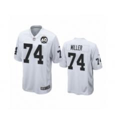 Men's Oakland Raiders #74 Kolton Miller Game 60th Anniversary White Football Jersey
