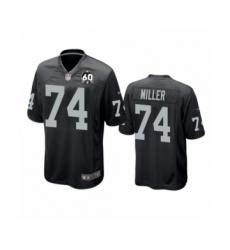 Men's Oakland Raiders #74 Kolton Miller Game Black 60th Anniversary Team Color Football Jersey