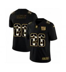 Men's New York Giants #26 Saquon Barkley Black Jesus Faith Limited Football Jersey