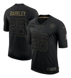 Men's New York Giants #26 Saquon Barkley Black Nike 2020 Salute To Service Limited Jersey