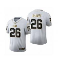 Men's New York Giants #26 Saquon Barkley Limited White Golden Edition Football Jersey
