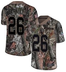 Men's Nike New York Giants #26 Saquon Barkley Limited Camo Rush Realtree NFL Jersey