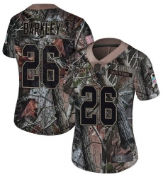 Women's Nike New York Giants #26 Saquon Barkley Limited Camo Rush Realtree NFL Jersey