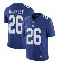 Youth Nike New York Giants #26 Saquon Barkley Royal Blue Team Color Vapor Untouchable Limited Player NFL Jersey