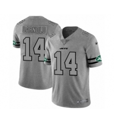 Men's New York Jets #14 Sam Darnold Limited Gray Team Logo Gridiron Football Jersey