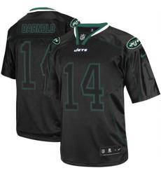 Men's Nike New York Jets #14 Sam Darnold Elite Lights Out Black NFL Jersey