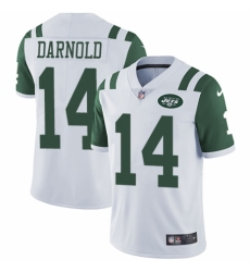 Men's Nike New York Jets #14 Sam Darnold White Vapor Untouchable Limited Player NFL Jersey