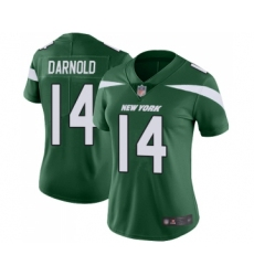 Women's New York Jets #14 Sam Darnold Green Team Color Vapor Untouchable Limited Player Football Jersey