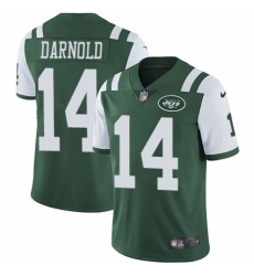 Youth Nike New York Jets #14 Sam Darnold Green Team Color Vapor Untouchable Elite Player NFL Jersey