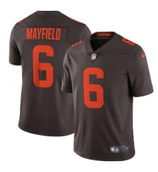 Nike Cleveland Browns #6 Baker Mayfield Men's Brown Alternate 2020 Vapor Limited Jersey