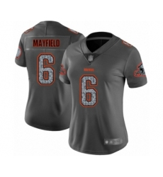 Women's Cleveland Browns #6 Baker Mayfield Limited Gray Static Fashion Football Jersey
