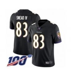Men's Baltimore Ravens #83 Willie Snead IV Black Alternate Vapor Untouchable Limited Player 100th Season Football Jersey