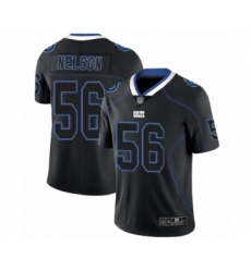 Men's Indianapolis Colts #56 Quenton Nelson Limited Lights Out Black Rush Football Jersey