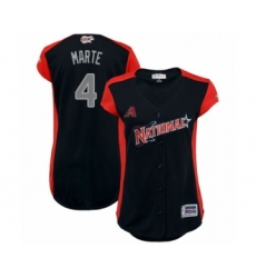 Women's Arizona Diamondbacks #4 Ketel Marte Authentic Navy Blue National League 2019 Baseball All-Star Jersey