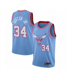 Men's Chicago Bulls #34 Wendell Carter Jr. Swingman Blue Basketball Jersey - 2019 20 City Edition