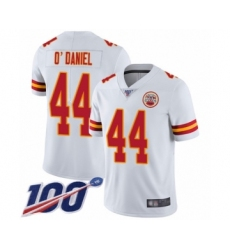 Men's Kansas City Chiefs #44 Dorian O'Daniel White Vapor Untouchable Limited Player 100th Season Football Jersey