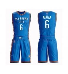 Men's Oklahoma City Thunder #6 Hamidou Diallo Swingman Royal Blue Basketball Suit Jersey - Icon Edition