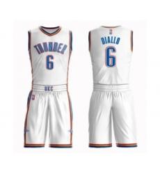 Men's Oklahoma City Thunder #6 Hamidou Diallo Swingman White Basketball Suit Jersey - Association Edition