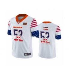 Men's Chicago Bears #52 Khalil Mack White Independence Day Limited Football Jersey