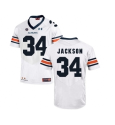 Auburn Tigers 34 Bo Jackson White College Football Jersey