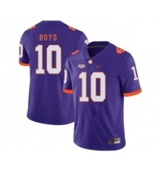Clemson Tigers 10 Tajh Boyd Purple Nike College Football Jersey